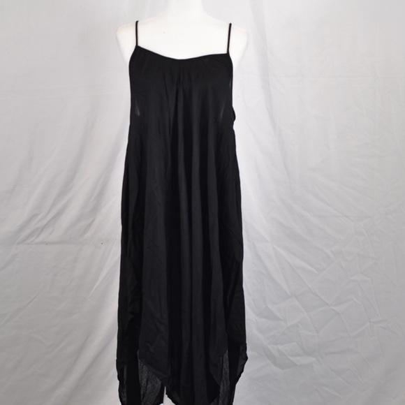 Elan Dresses & Skirts - Elan Adjustable Thin Strap Black Maxi Dress (M57A)